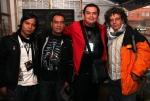 De izquierda a derecha de la imágen César García, Alfredo Estévez, Christian Hernández de Colectivo Movimiento (México) junto con Miguel Alvear de Ochoymedio (Ecuador). Foto: Juan Antonio Aperador