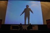 Tinieblas interpretó al monstruo de Frankenstein, charla con The Killer Film el crítico enmascarado, en la Cineteca Nacional. Foto: Fabian Zusto