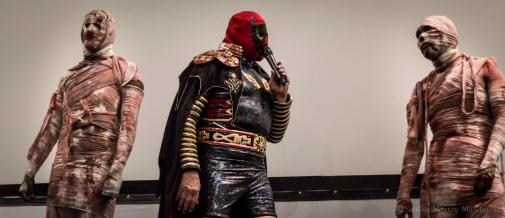 Satán, la momia Gigante se presentó en la Cineteca Nacional... Foto: Sandra Monroy Mandujano.